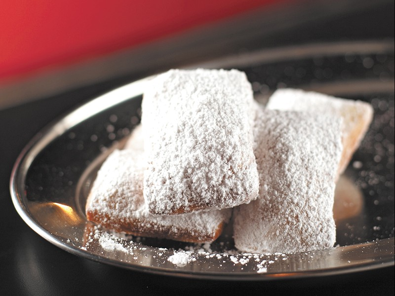 A sneak peek at Beignets\' namesake dish. - YOUNG KWAK