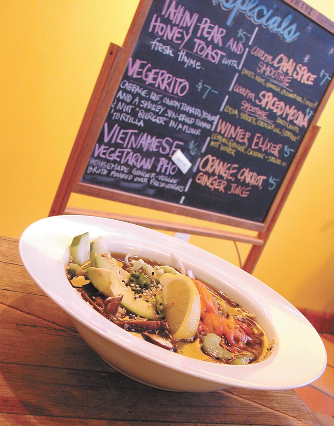 A vegetarian pho soup. - CARRIE SCOZZARO
