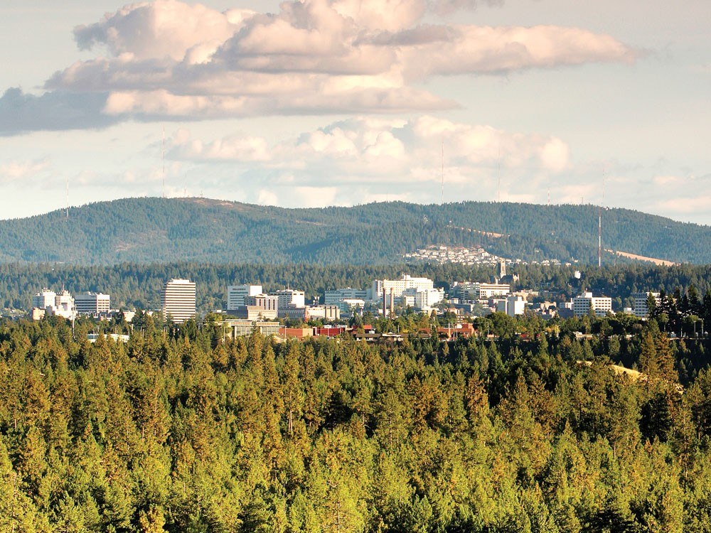 A view of downtown Spokane from Riverside State Park. - YOUNG KWAK