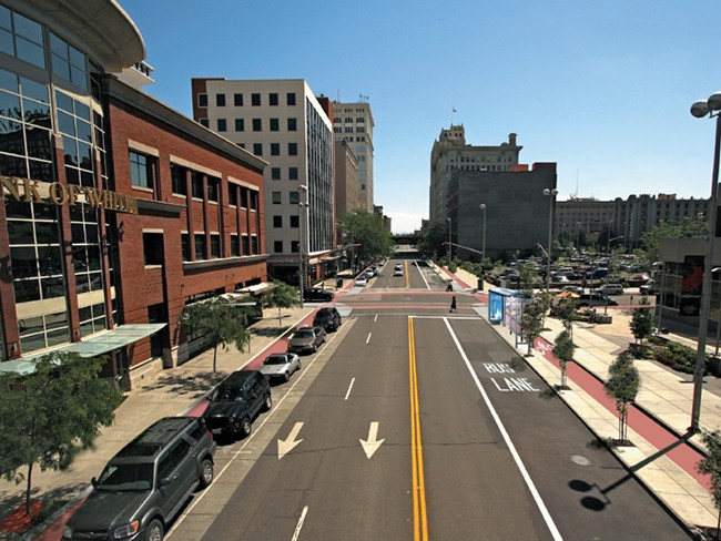 A vision for what the Complete Streets policy could bring about in downtown Spokane