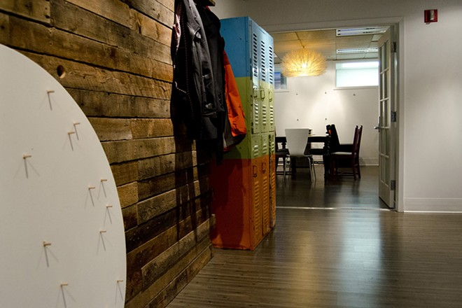 Near the entrance is a meeting room and kitchen area. - LISA WAANANEN