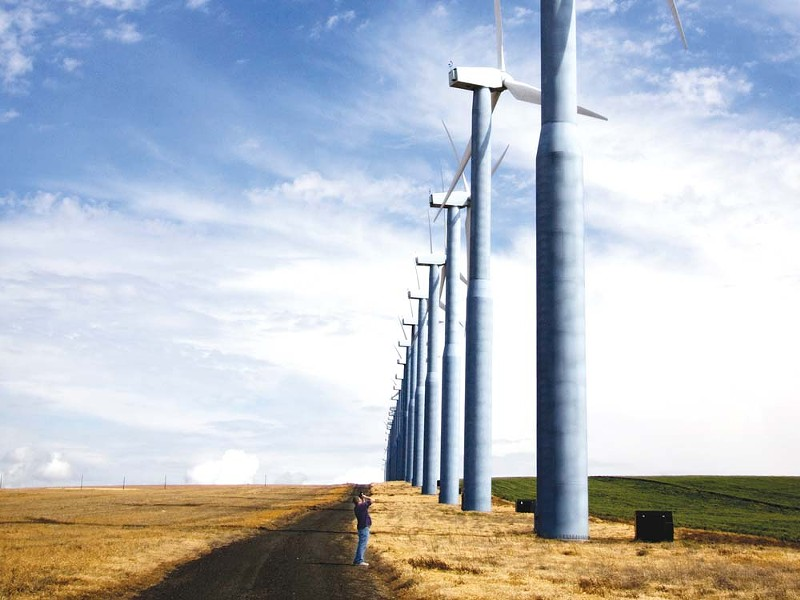 A windmill in Oregon - CARL DAVID LEETH