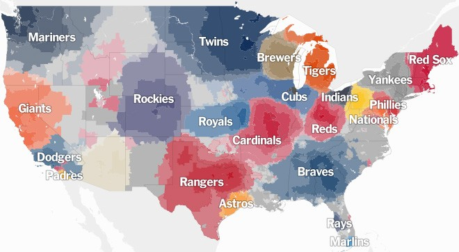 According to this map youre probably a mariners fan bloglander new york times sciox Gallery