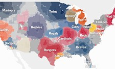 "According to this map, you're probably a Mariners ""fan"""