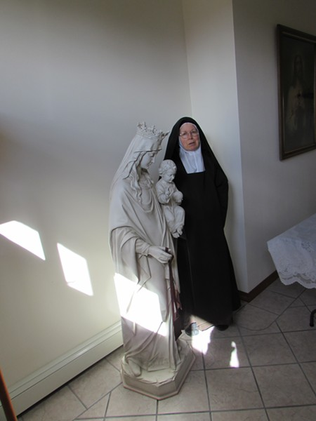 After 28 years in monasteries, Sister Marie Joseph is no longer cloistered, but she still helps out her fellow nuns at the Carmel of the Holy Trinity. - DANIEL WALTERS