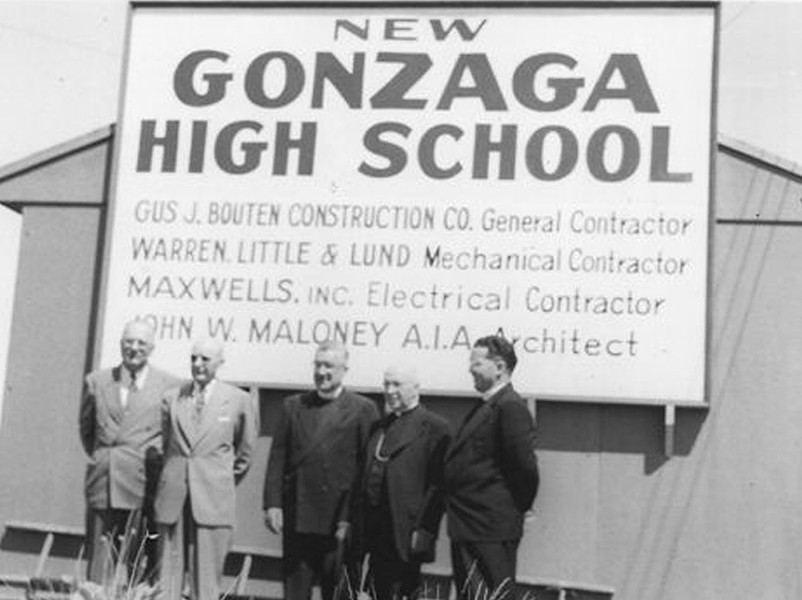 After the war, Father Gordon Toner secured property for the Jesuit high school's new home - GONZAGA PREP