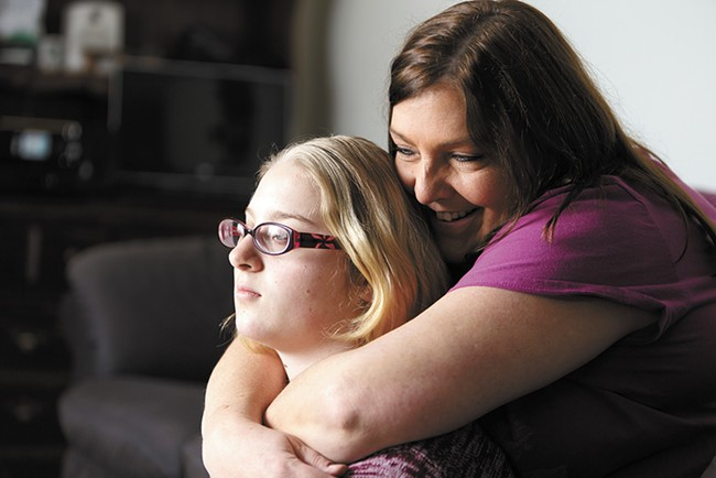 Alecia Crider, left, and her mother Tammy. Alecia was diagnosed with bipolar disorder, ADHD and general anxiety at the age of 11. - YOUNG KWAK