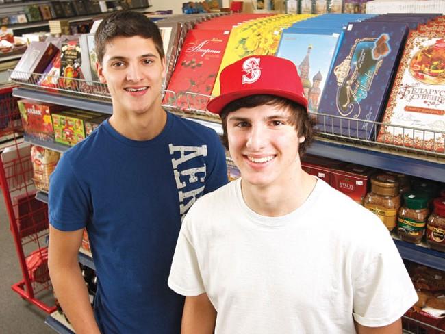 Alex (left) and Petr Chubenko of Mariupol European Bakery and Deli. - YOUNG KWAK