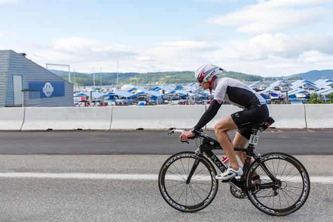 Alexander Baumstark, of Germany, finished the Coeur d'Alene Ironman in 11:28:21. - MATT WEIGAND