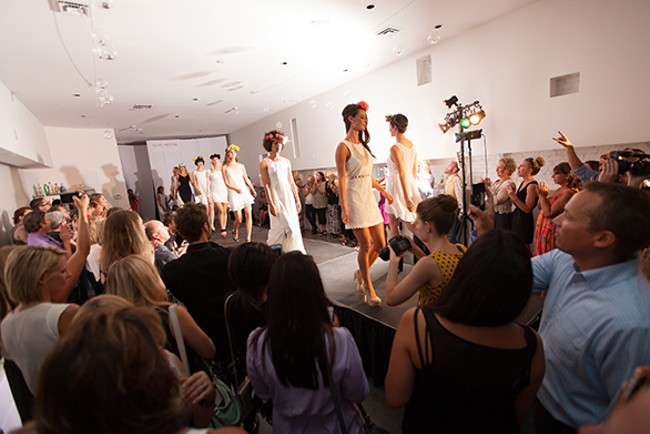 All of the models walk at the end of the show. - YOUNG KWAK
