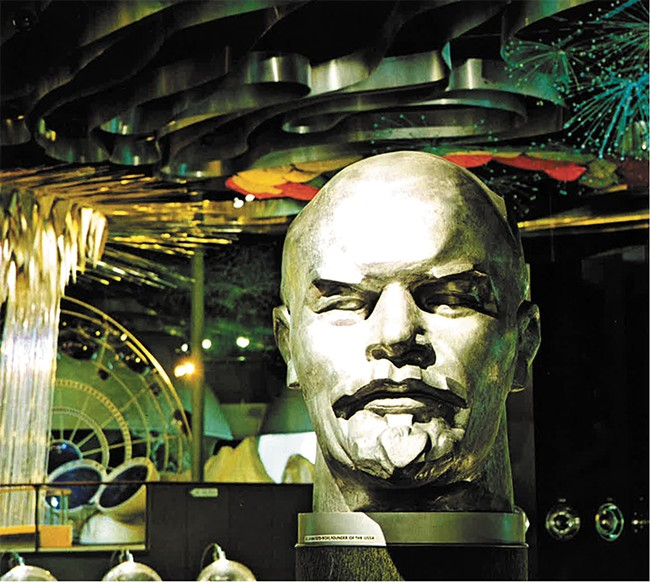 All told, the bust of Lenin stood 10 feet high.