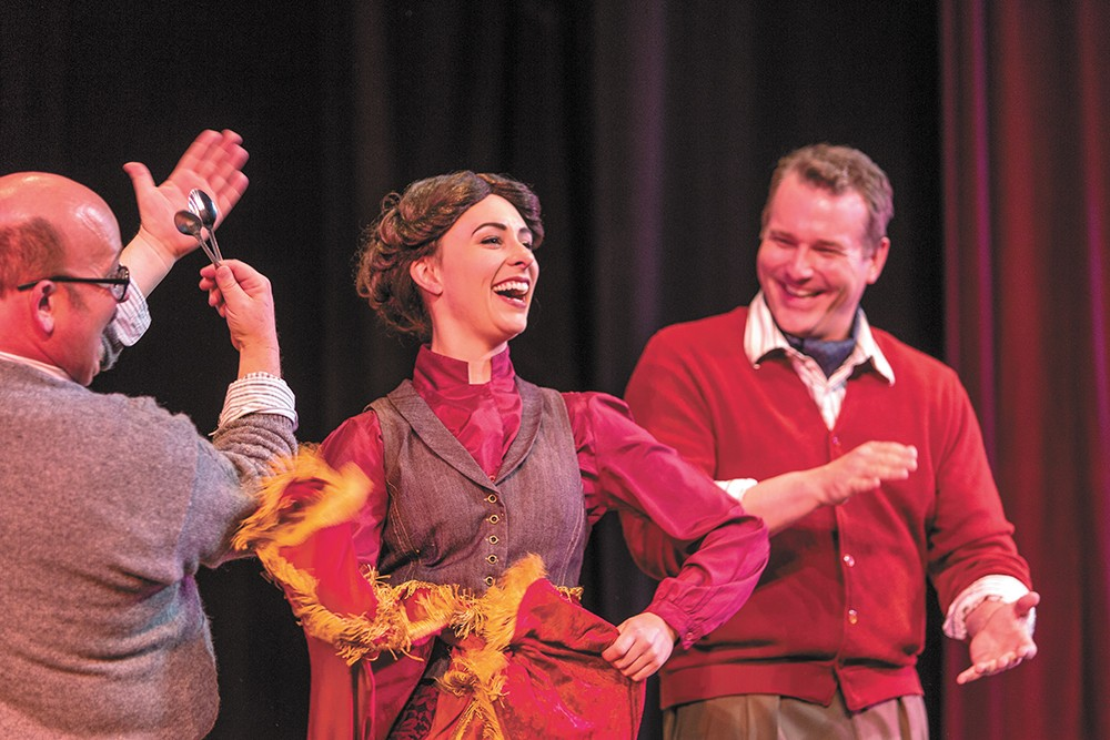Allison Standley (center) and Greg Stone (right) in Coeur d'Alene Summer Theatre's production of My Fair Lady. - MATT WEIGAND PHOTO