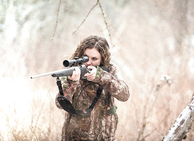 Amanda Lowrey of Sandpoint has her sights set on engaging female hunters. - MIKE MCCALL