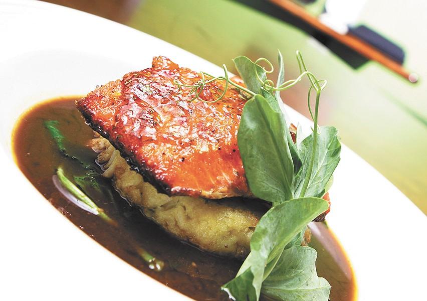 Ambrosia's glazed salmon