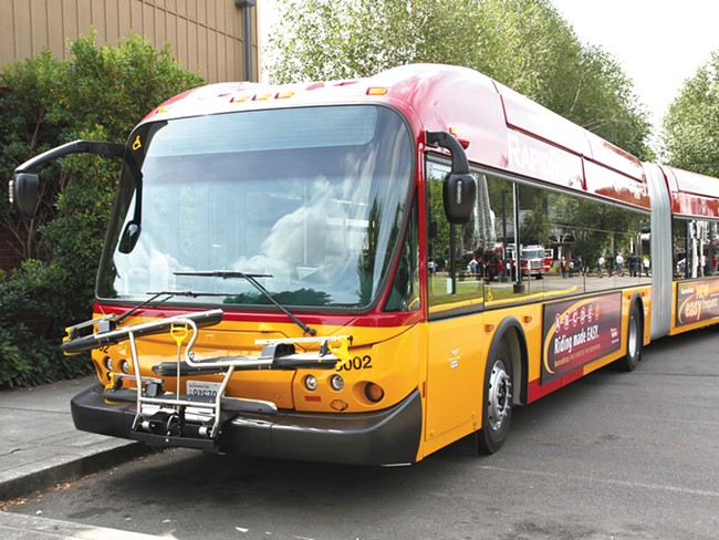 Among STA\'s options for improving bus service on major routes are more comfortable buses and light rail.