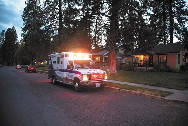 AMR currently has exclusive rights to provide ambulance service in Spokane. - COURTESY OF AMR