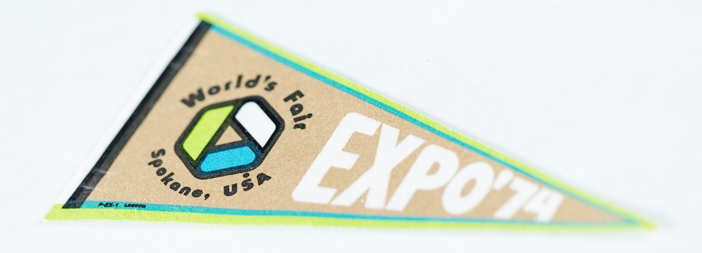 An Expo pennant. - YOUNG KWAK