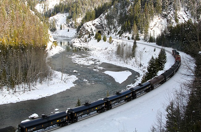 An oil train running through Montana. - ROY LUCK