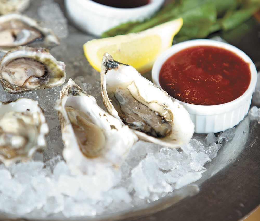 An oyster sampler from Anthony's, which is celebrating an oyster festival all month. - YOUNG KWAK