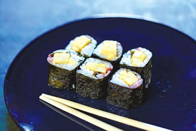 An Ume Shiso roll from Yuzen Sushi