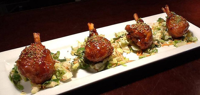 """Another first-course option at Satay Bistro: """"Chicken Lollipops."""" - SATAY BISTRO"""