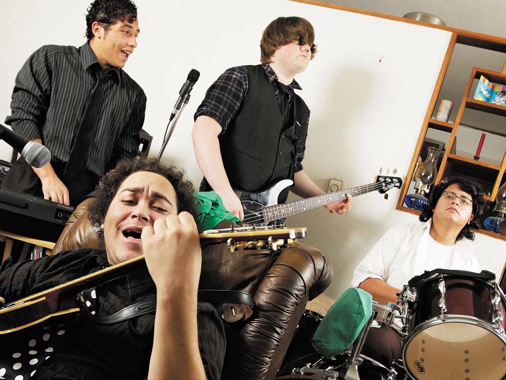 Arcadia is Burning: (clockwise from top left) Desi Bullis, Jake Hansen, Ruben Elias, Dahveed Bullis. - YOUNG KWAK