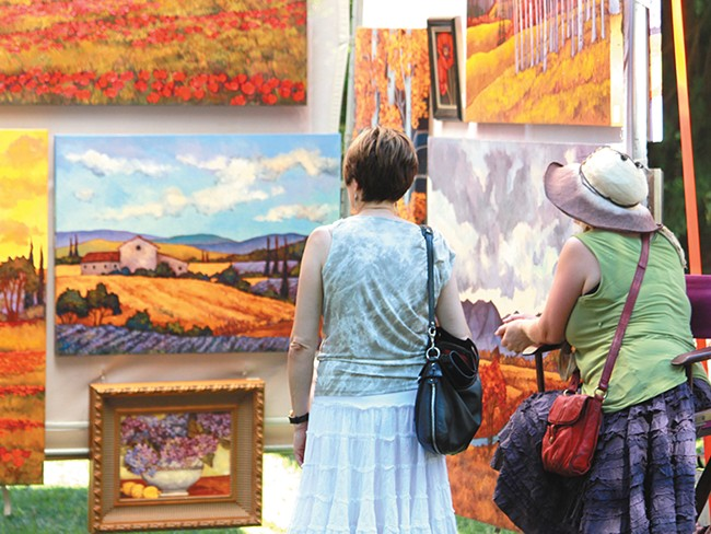 Art on the Green returns for its 45th year in Coeur d\'Alene. - JOE KONEK