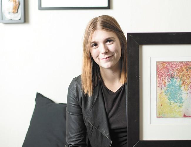 Artist Devon Plopper. - YOUNG KWAK