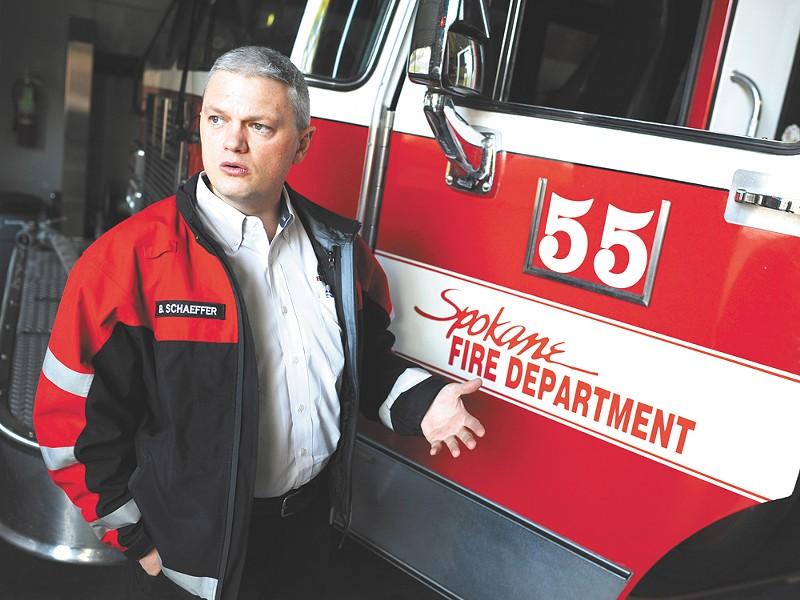 Assistant Fire Chief Brian Schaeffer at Station 9. - CHRISTIAN WILSON