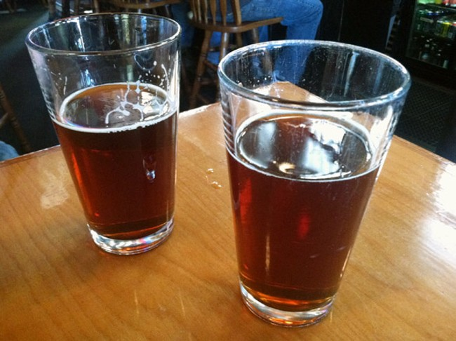 Two delicious pints of River City Red at The Elk last weekend.