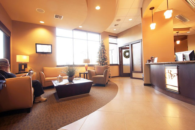 At practices like Dr. Richard D. Weigands, the relaxation starts with a calming reception area. - YOUNG KWAK