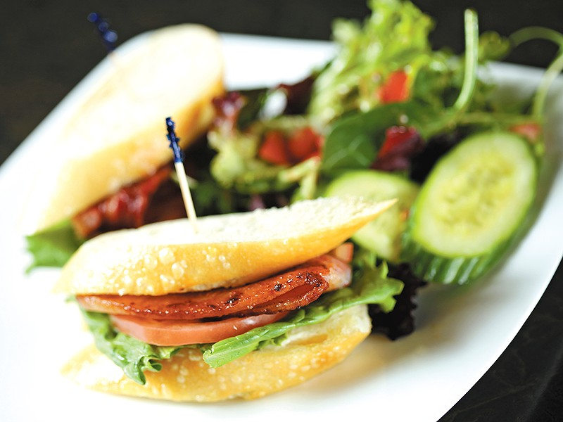 At the Davenport\'s Safari Room, lunch items like this savory BLT are only $6 during the middle of the day.| - YOUNG KWAK