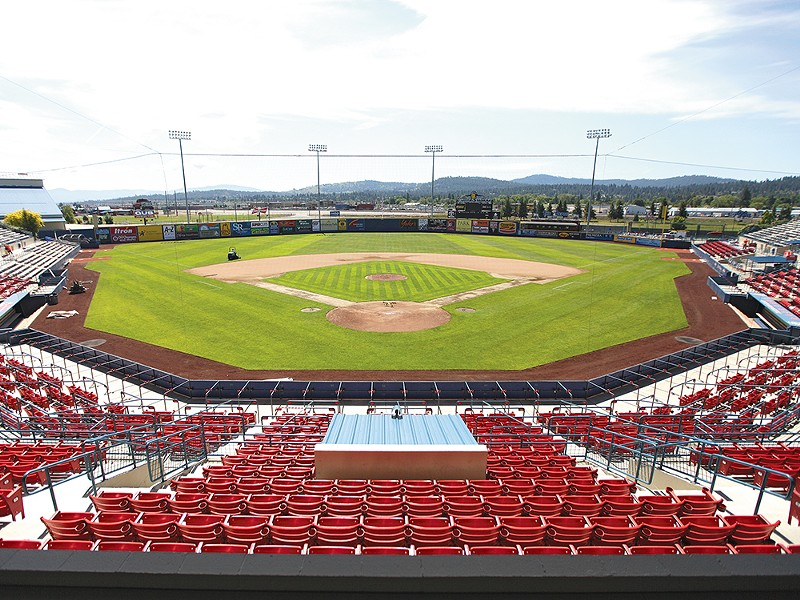 Avista Stadium got ready for the new season with a major facelift. - YOUNG KWAK