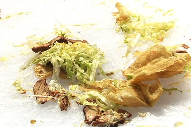 A destroyed lunch — taco salad?