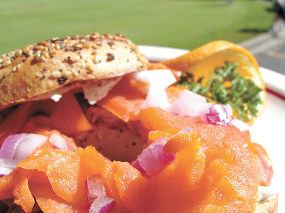 Bagels and lox at Bunkers - CARRIE SCOZZARO