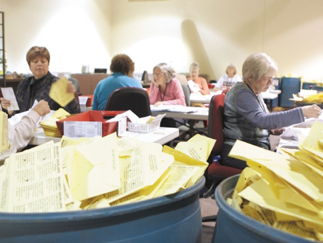 Ballots are due Aug. 17. Drop boxes are at public libraries, the STA Plaza and the Elections Office (1033 W. Gardner Ave.). - BEN TOBIN