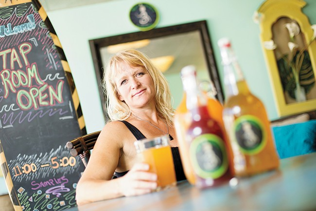 Bare Culture Kombucha owner Heather Threadgill. - YOUNG KWAK