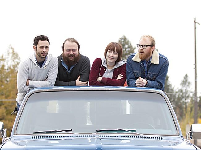 BBBBandits: (from left) Ryan Tucker, Jeff Glinski, Colleen Vice, Gawain Fadeley - MIKE MCCALL