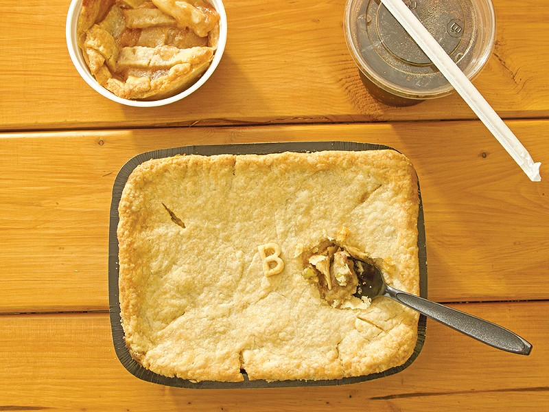 Beef pot pie and peach cobbler are two favorites at Mama Doree\'s on Sprague Avenue. - JAMES NISBET