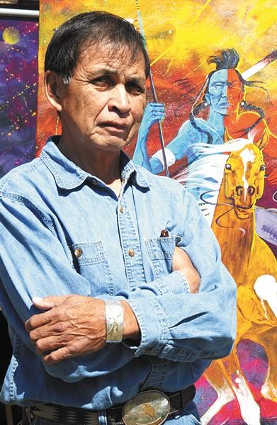 Beloved Spokane artist George Flett passed in January. - LEONID BERGOLTSEV
