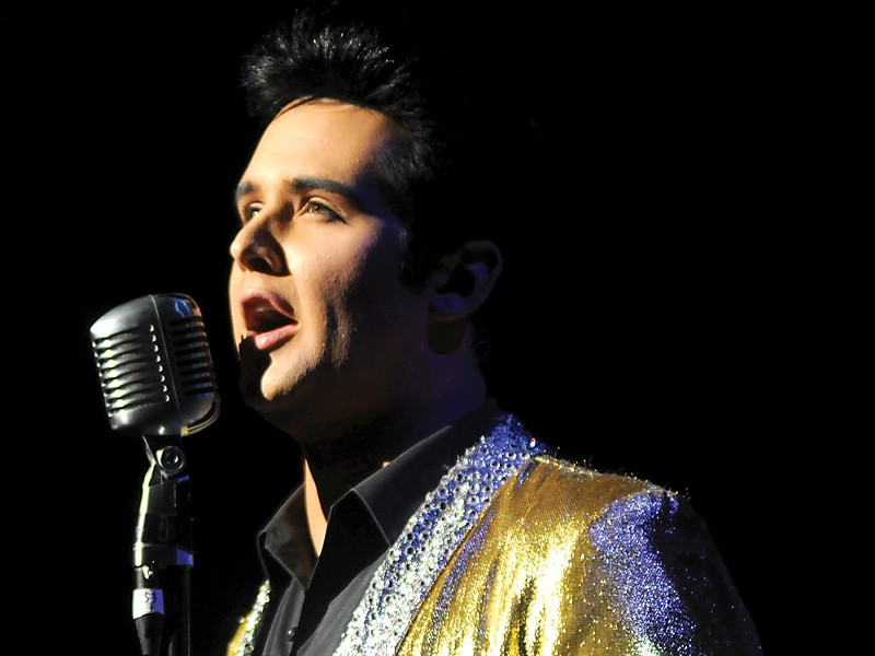 Ben Klein competing at the Ultimate Elvis Tribute Artist Contest in July 2011 - COURTESY EPE, INC.