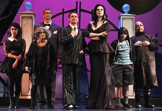 Cast of The Addams Family musical. - COURTESY OF CDA SUMMER THEATRE