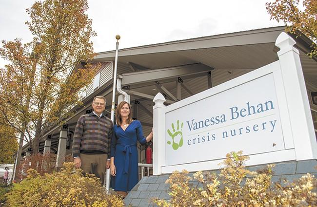 Bill Bialkowsky, founder of the Vanessa Behan Crisis Nursery, and Amy Knapton, executive director. - SARAH WURTZ