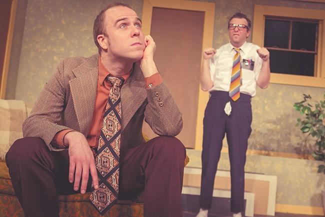 Brandon Montang (left) and Sean Curray in The Nerd. - DAN BAUMBER