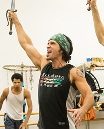 Brandon O'Neill at rehearsal for Aladdin.