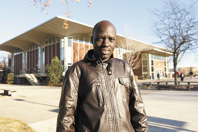 Brimo Nyinkuany is working on his public administration degree at Spokane Falls Community College. - YOUNG KWAK