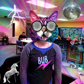 Testing out the new Power of BUB app at Inlander HQ. - ALI BLACKWOOD MEAD