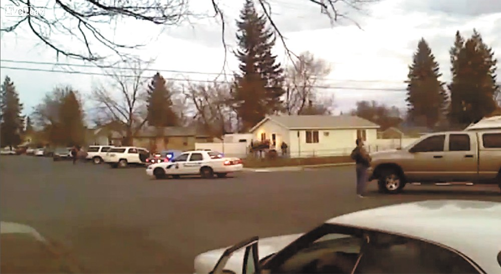 Cellphone video captured the violent encounter between Corkery and Spokane police.