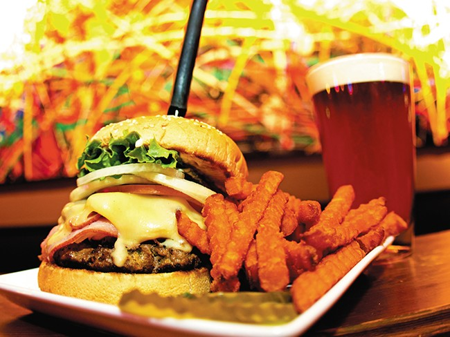 Charley\'s Sauteed S\'hroom Burger. - JOE KONEK