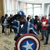 Check out Captain America at Merlyn's tonight